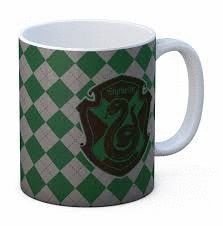 TASSA - SLYTHERIN TAZA BLANCA CERAMICA HARRY POTTER