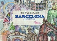 20 POSTCARDS BARCELONA ORIGINAL