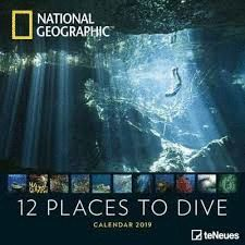 CALENDAR 2019 12 PLACES TO DIVE