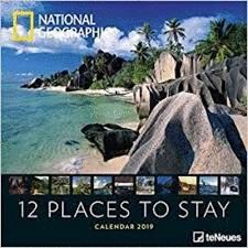 CALENDAR 2019 12 PLACES TO STAY