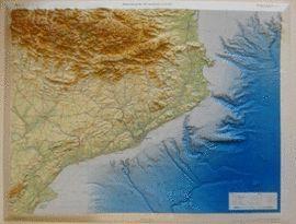 Mapa Topografic De Catalunya.Mapa Topografic Relleu Catalunya Sense Marc Escala 1 450 000 Mides 67 Cms X 88 50 Cms