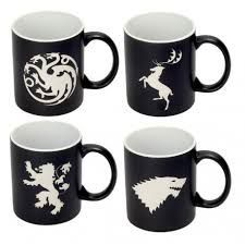 SET 4 TAZAS EMBLEMAS CASAS - GAME OF THRONES