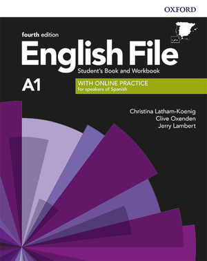 ENGLISH FILE A1 BEGINNER STUDENT'S AND WORKBOOK KEY WITH ONLINE PRATICE