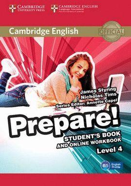 PREPARE! 4 STUDENT'S BOOK AND ONLINE WORKBOOK