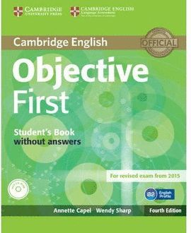OBJECTIVE FIRST STUDENT 'S BOOK WITHOUT ANSWERS WITH CD-ROM
