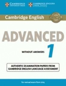 CAMBRIDGE ENGLISH ADVANCED 1 REVISED EXAM 2015 STUDENT 'S WITH KEY