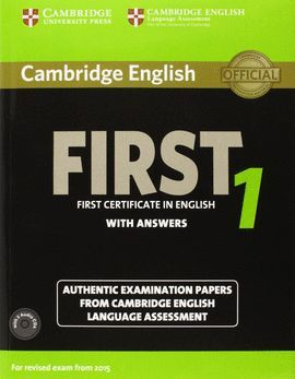 CAMBRIDGE ENGLISH FIRST 1 STUDENT 'S BOOK PACK + AUDIO CD