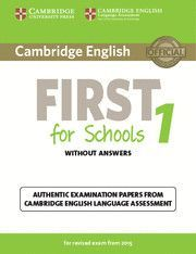 CAMBRIDGE FIRST CERTIFICATE. STUDENT WITH KEY