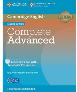COMPLETE ADVANCED - TEACHER'S BOOK WITH TEACHER'S RESOURCES CD-ROM 2ND EDITION