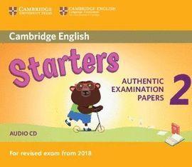 CAMBRIDGE ENGLISH STARTERS 2 AUDIO CD (2018 REVISED EXAM)