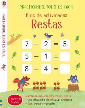 BLOC DE ACTIVIDADES - RESTAS