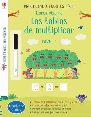 TABLAS DE MULTIPLICAR NIVEL 1 - LIBROS PIZARRA