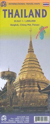 MAPA DE CARRETERES DE TAILANDIA, THAILAND - ITMB