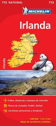 IRLANDA, MAPA NATIONAL Nº 712