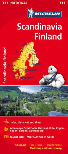 ESCANDINAVIA - FINLANDIA, MAPA NATIONAL Nº 711