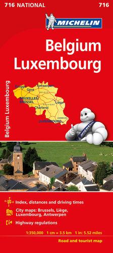 BÉLGICA - LUXEMBURGO, MAPA NATIONAL Nº 716
