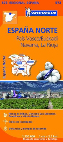 PAIS VASCO / EUSKADI, NAVARRA, LA RIOJA, MAPA REGIONAL Nº 573 - ESPAÑA NORTE