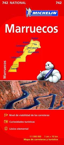 MAPA DE CARRETERES MARRUECOS - NATIONAL Nº 742
