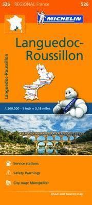 LANGUEDOC - ROUSSILLON - MAPA REGIONAL Nº 526