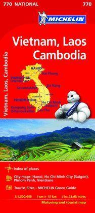 MAPA DE CARRETERES VIETNAM, LAOS, CAMBOYA - NATIONAL Nº 770