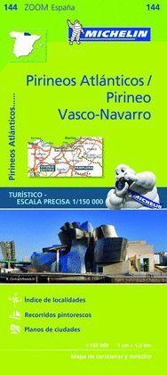 PIRINEOS ATLANTICOS, PIRINEO VASCO-NAVARRO, MAPA  ZOOM Nº 144