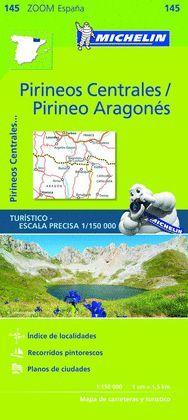 PIRINEOS CENTRALES, PIRINEO ARAGONES, MAPA ZOOM Nº 145