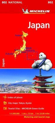 MAPA DE CARRETERES JAPON - NATIONAL Nº 802