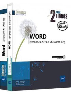 WORD (VERSIONES 2019 Y OFFICE 365) - PACK 2 LIBROS