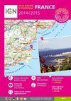 FRANCE ATLAS ROUTIER ET TOURISTIQUE 1:350.000 -IGN 2014/2015