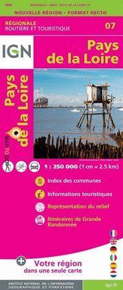 PAYS DE LA LOIRE 1:250.000 -IGN REGIONALE 07