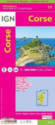 CORSE 1:250.000 -IGN- REGIONALE 17