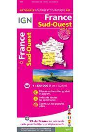 FRANCE SUD-OUEST, MAPA 803 IGN NATIONALE ROUTIERE ET TOURISTIQUE