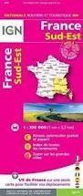 FRANCE SUD-EST, MAPA IGN 804 NATIONALE ROUTIERE ET TOURISTIQUE