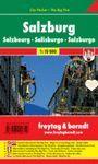 MAPA DE SALZBURGO, SALZBURG, SALISBURG, SALSBOURG - CITY POCKET + THE BIG FIVE