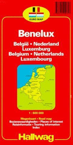 BENELUX. BELGIQUE. PAYS-BAS. LUXEMBOURG 1:600.000  (MAPA DE CARRETERES)