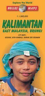 KALIMANTAN. EAST MALAYSIA, BRUNEI (MAPA) 1:1.500.000