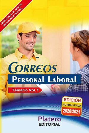 PERSONAL LABORAL DE CORREOS. TEMARIO. VOLUMEN I