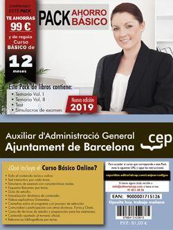 PACK BASICO AUXILIAR D'ADMINISTRACIÓ GENERAL AJUNTAMENT DE BARCELONA