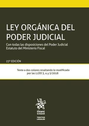 LEY ORGANICA DEL PODER JUDICIAL (23 ED. 2019)
