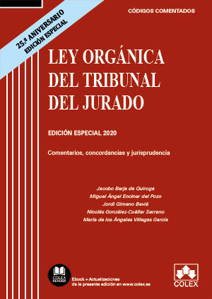 LEY ORGANICA DEL TRIBUNAL DEL JURADO (25 ANIVERSARIO 2020)