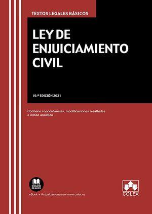LEY DE ENJUICIAMIENTO CIVIL (19ª ED. 2021)
