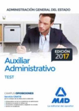 AUXILIAR ADMINISTRATIVO ESTADO TEST (EDICION 2017)