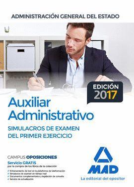 SIMULACRO EXAMEN 1 EJERCICIO AUXILIAR ADMINISTRATIVO ADMINISTRACION GENERAL DEL ESTADO