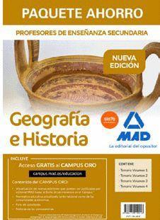 PAQUETE AHORRO GEOGRAFIA E HISTORIA. CUERPO DE PROFESORES DE ENSEÑANZA SECUNDARIA