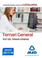 CORPORACIONS LOCALS - TEST DEL TEMARI GENERAL
