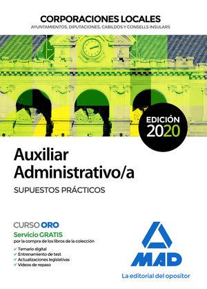 AUXILIAR ADMINISTRATIVO/A DE CORPORACIONES LOCALES - SUPUESTOS PRÁCTICOS