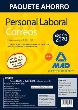 PAQUETE AHORRO PERSONAL LABORAL CORREOS 2020.
