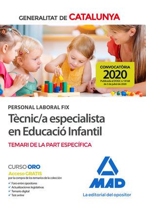 PERSONAL LABORAL FIX DE TÈCNIC/A ESPECIALISTA EN EDUCACIÓ INFANTIL DE LA GENERALITAT DE CATALUNYA