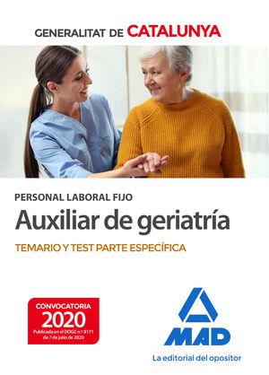 PERSONAL LABORAL FIJO DE AUXILIAR DE GERIATRÍA DE LA GENERALITAT DE CATALUNYA