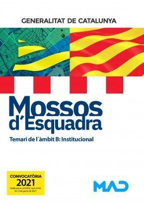 MOSSOS D`ESQUADRA - TEMARI DE L´ÀMBIT B: INSTITUCIONAL